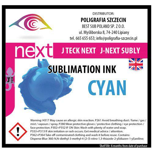 J-Teck J-Eco szublimációs tinta, CYAN 1000 ml