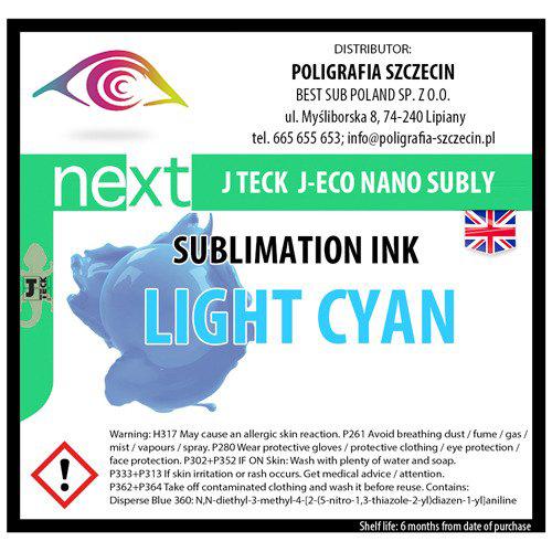 J-Teck J-Eco Nano szublimációs tinta, VILÁGOS CYAN 1000 ml