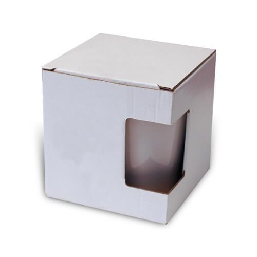 Ablakos doboz szublimált, préselt kis latte bögréhez