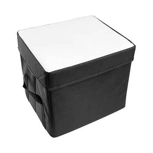 32 x 28 x 28 cm-es összecsukható fedeles tároló szublimáláshoz, préseléshez
