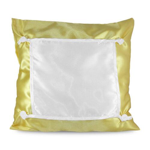 40 x 40 cm-es sárga Eco párnahuzat szublimáláshoz, préseléshez