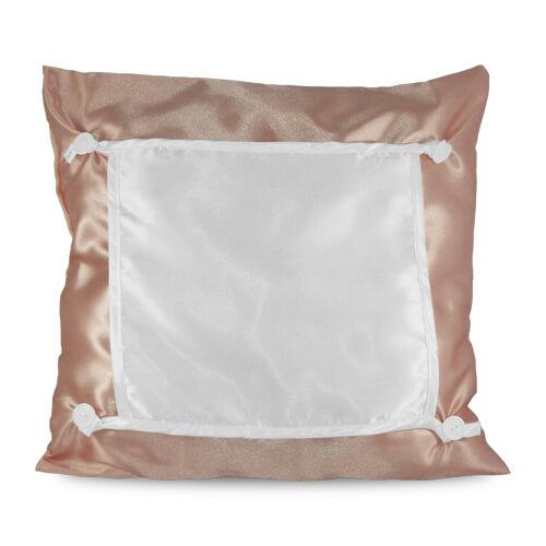 40 x 40 cm-es barna ECO párnahuzat szublimáláshoz, préseléshez
