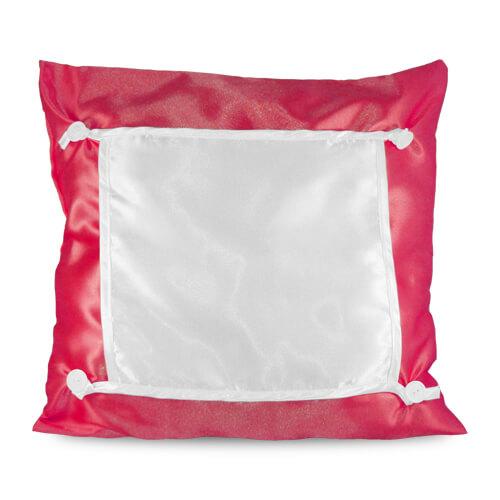 40 x 40 cm-es piros Eco párnahuzat szublimáláshoz, préseléshez