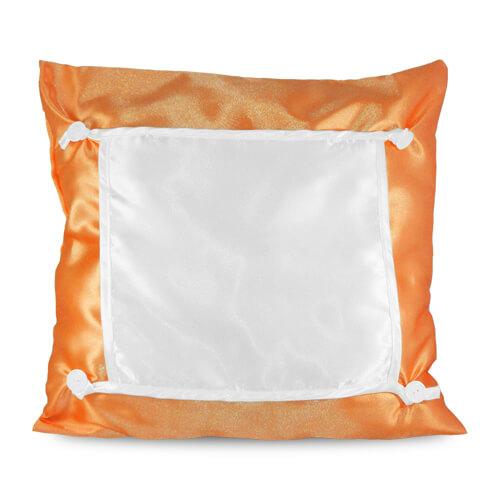 40 x 40 cm-es narancssárga Eco párnahuzat szublimáláshoz, préseléshez