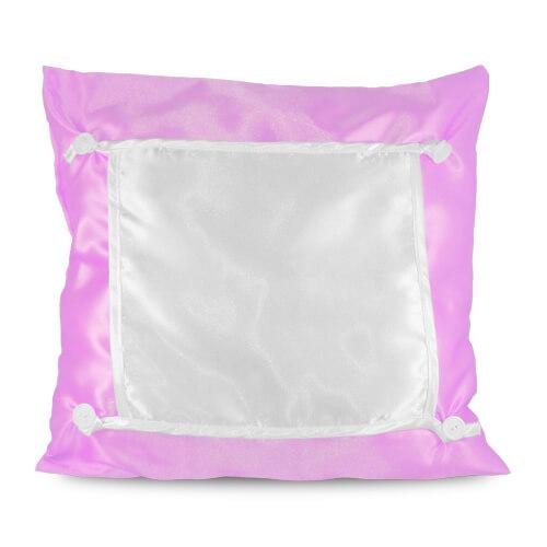 40 x 40 cm-es világos rózsaszín Eco párnahuzat szublimáláshoz, préseléshez