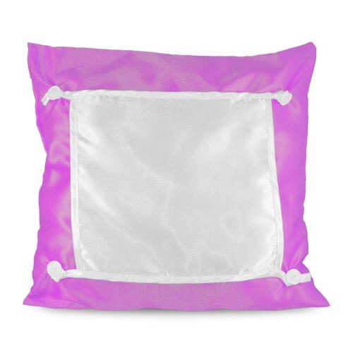 40 x 40 cm-es sötét rózsaszín Eco párnahuzat szublimáláshoz, préseléshez