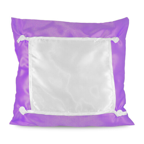 40 x 40 cm-es lila Eco párnahuzat szublimáláshoz, préseléshez