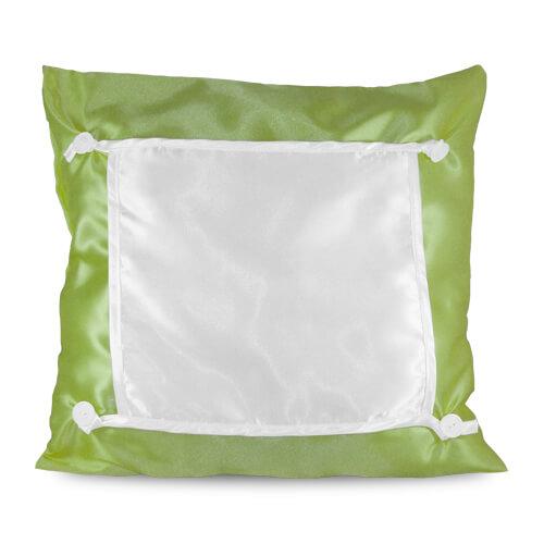 40 x 40 cm-es oliva zöld Eco párnahuzat szublimáláshoz, préseléshez