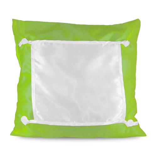 40 x 40 cm-es zöld Eco párnahuzat szublimáláshoz, préseléshez