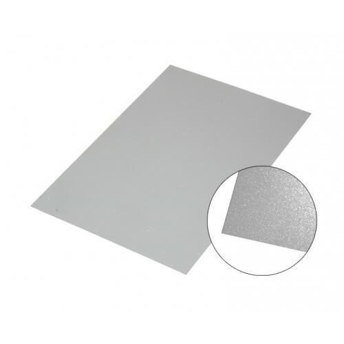 Fényes ezüst színű alumínium lap, A6, szublimáláshoz, préseléshez
