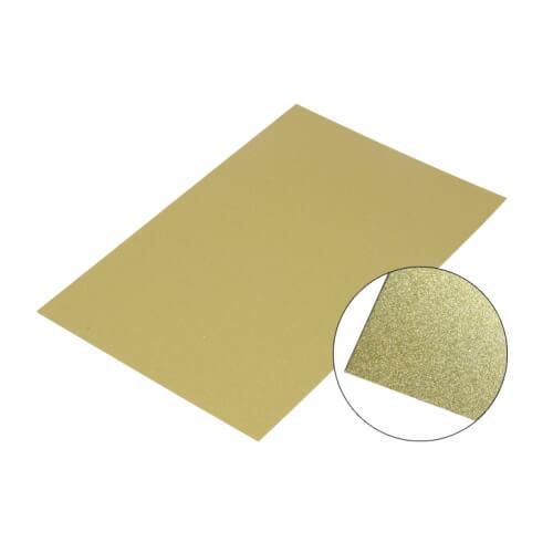 Fényes arany színű alumínium lap, A2, szublimáláshoz, préseléshez