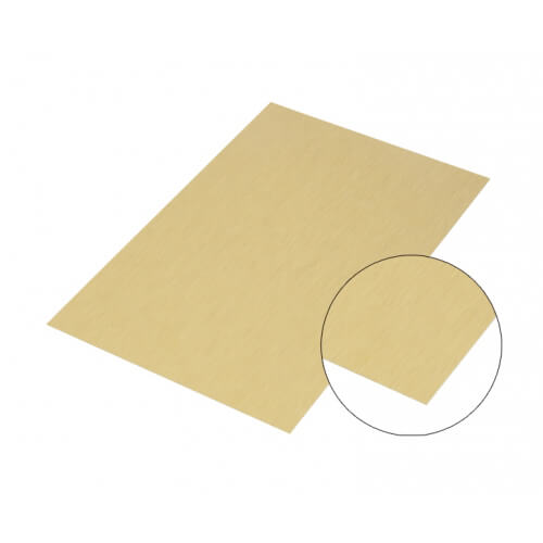 Matt arany színű csiszolt alumínium lap, A4, szublimáláshoz, préseléshez