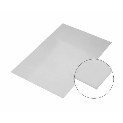Ezüst színű, tükröződő felületű alumínium lap, A5, szublimáláshoz, préseléshez