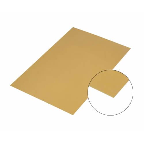 Arany színű, tükröződő felületű alumínium lap, A4, szublimáláshoz, préseléshez