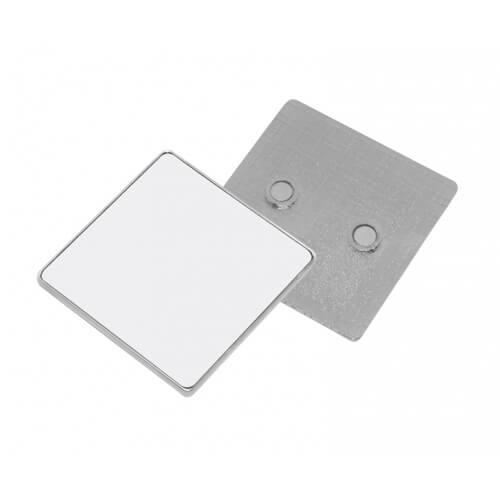 5,5 x 5,5 cm-es szögletes fém hűtőmágnes szublimáláshoz, préseléshez