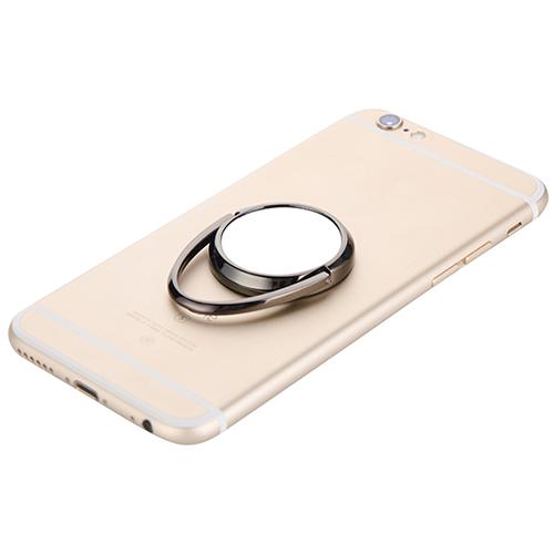 Szublimálható forgatható mobiltelefon gyűrű - fekete