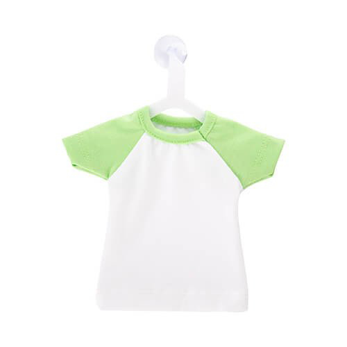 Szublimálható Mini póló akasztóval - világos zöld