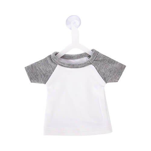 Szublimálható Mini póló akasztóval - szürke
