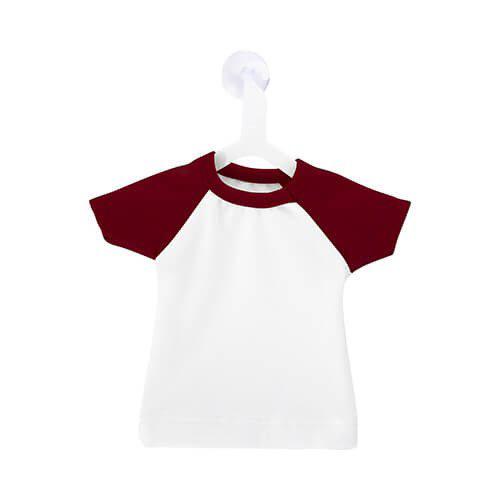 Szublimálható Mini póló akasztóval - piros
