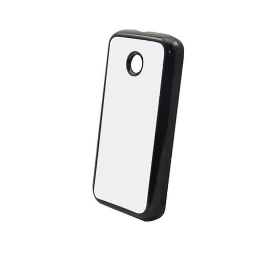 Motorola Moto E fekete műanyag tok szublimáláshoz, préseléshez