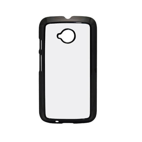 Motorola Moto E2 fekete műanyag tok szublimáláshoz, préseléshez