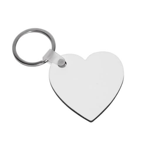 Szív alakú MDF kulcstartó szublimáláshoz, préseléshez