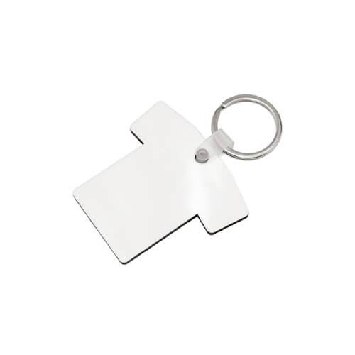 Póló alakú MDF kulcstartó szublimáláshoz, préseléshez