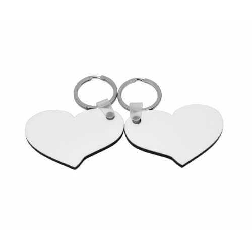 Két szív alakú MDF kulcstartó szublimáláshoz, préseléshez
