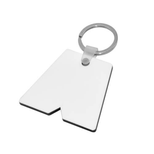 Rövidnadrág alakú MDF kulcstartó szublimáláshoz, préseléshez