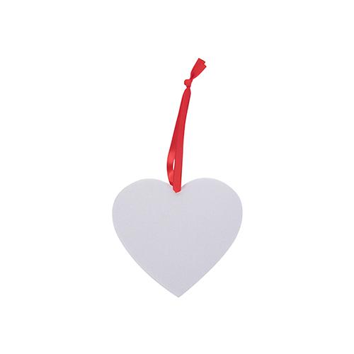 Szublimálható filc szív alakzat karácsonyfa díszítés