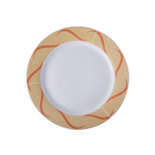 Szublimálható 27 cm-es kerámia tányér arany díszítéssel