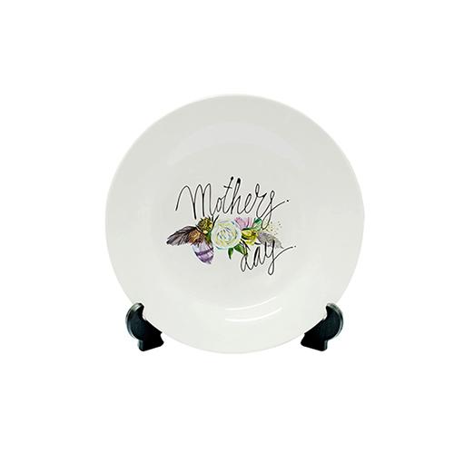 Szublimálható 18 cm lapos tányér álvánnyal