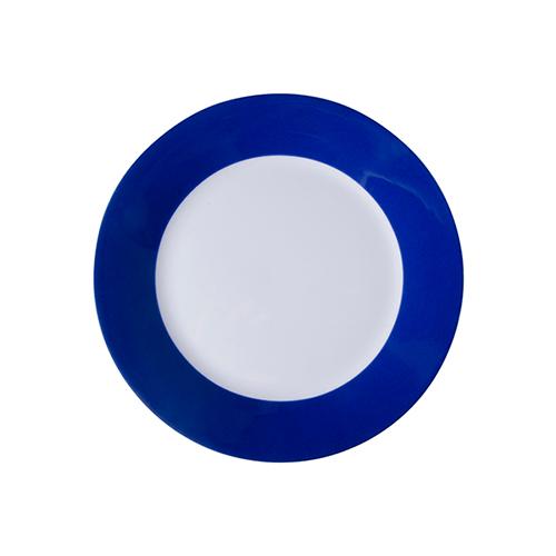 Szublimálható 20,5 cm tányér kék széllel