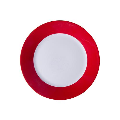 Szublimálható 20,5 cm tányér piros széllel