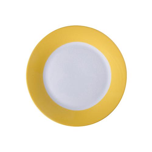 Szublimálható 20,5 cm tányér citromsárga széllel