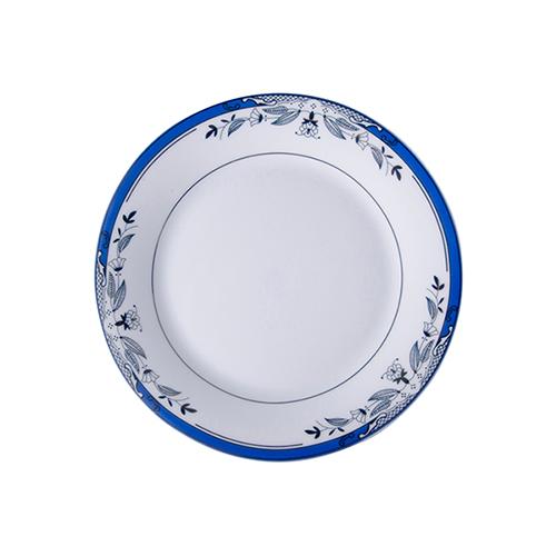 Szublimálható 20,5 cm-es kerámia tányér kék díszítéssel