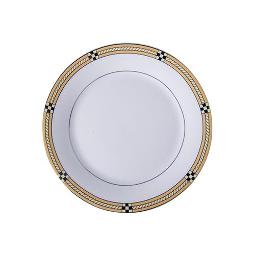 Szublimálható 20,5 cm-es kerámia tányér arany díszítéssel