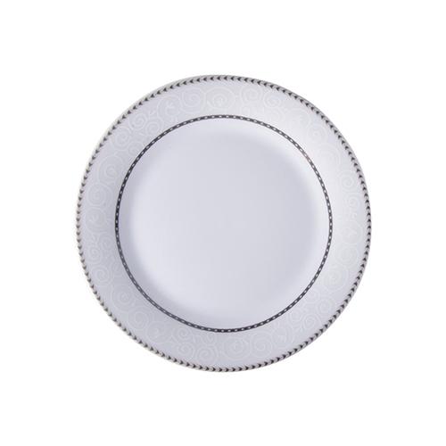 Szublimálható 20,5 cm-es kerámia tányér ezüst díszítéssel