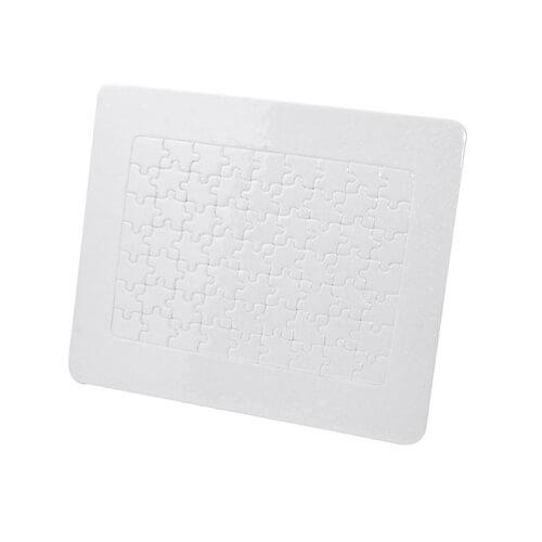 23,5 x 19,5 cm-es, 63 darabos karton puzzle kerettel, szublimáláshoz, préseléshez