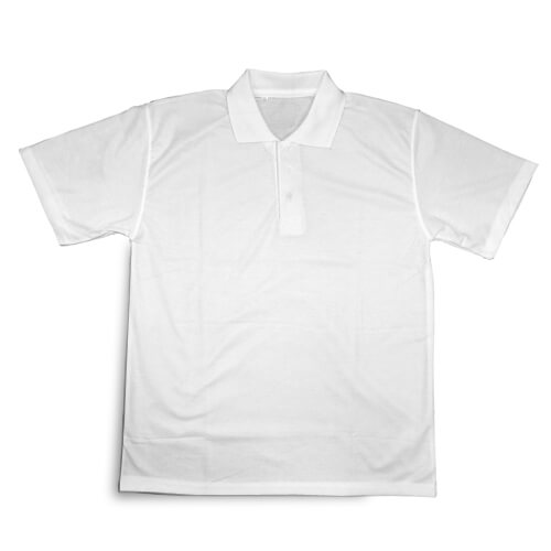 Fehér galléros póló, M-es, szublimáláshoz, préseléshez