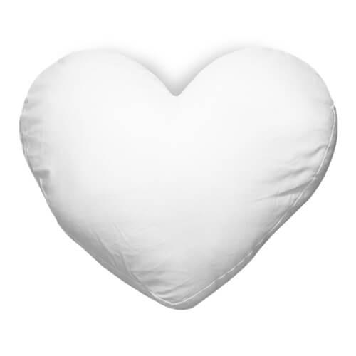 40 x 35 cm-es szív alakú Best Sub szatén párnahuzat szublimáláshoz, préseléshez
