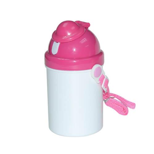 Rózsaszín gyerek kulacs szublimáláshoz, préseléshez