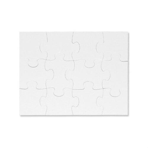 18 x 13 cm-es, 12 darabos puzzle szublimáláshoz, préseléshez