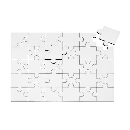 25 x 17,5 cm-es, 30 darabos MDF puzzle szublimáláshoz, préseléshez