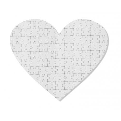 19,5 x 19,5 cm-es, 75 darabos, szív alakú puzzle szublimáláshoz, préseléshez