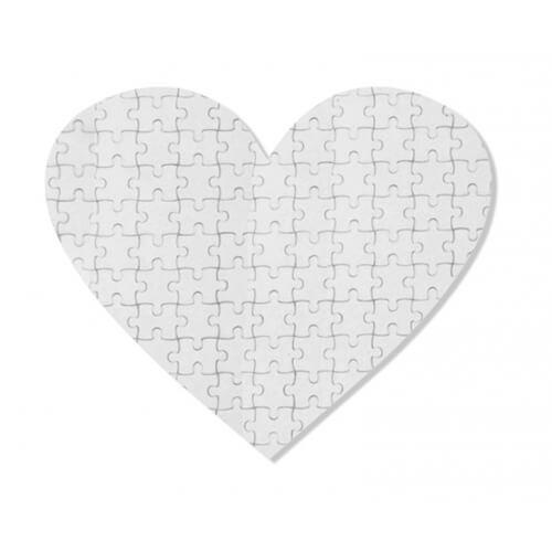 24 x 19 cm-es, 52 darabos, szív alakú puzzle szublimáláshoz, préseléshez