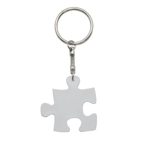Fehér puzzle kulcstartó szublimáláshoz, préseléshez