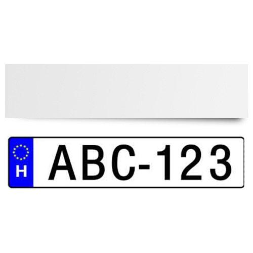 Szublimálható 51,5 x 12 cm-es acéllemez rendszámtáblához