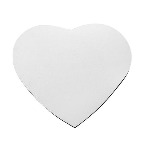 Szív alakú egérpad, 23,5 x 19,5 cm / 3 mm, szublimáláshoz, préseléshez