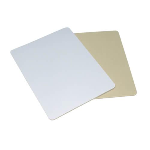 Szögletes egérpad, 23 x 19 cm / 5 mm, fehér gumi alátéttel, szublimáláshoz, préseléshez